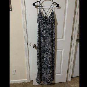 Wet seal gray animal print maxi dress